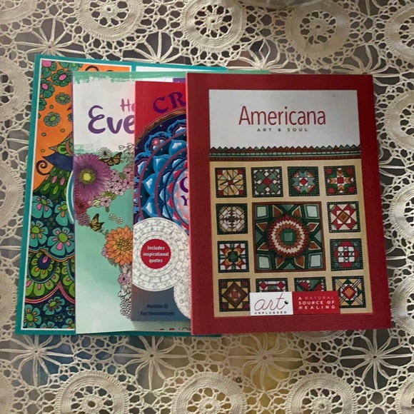 Bundle of 4 coloring books new